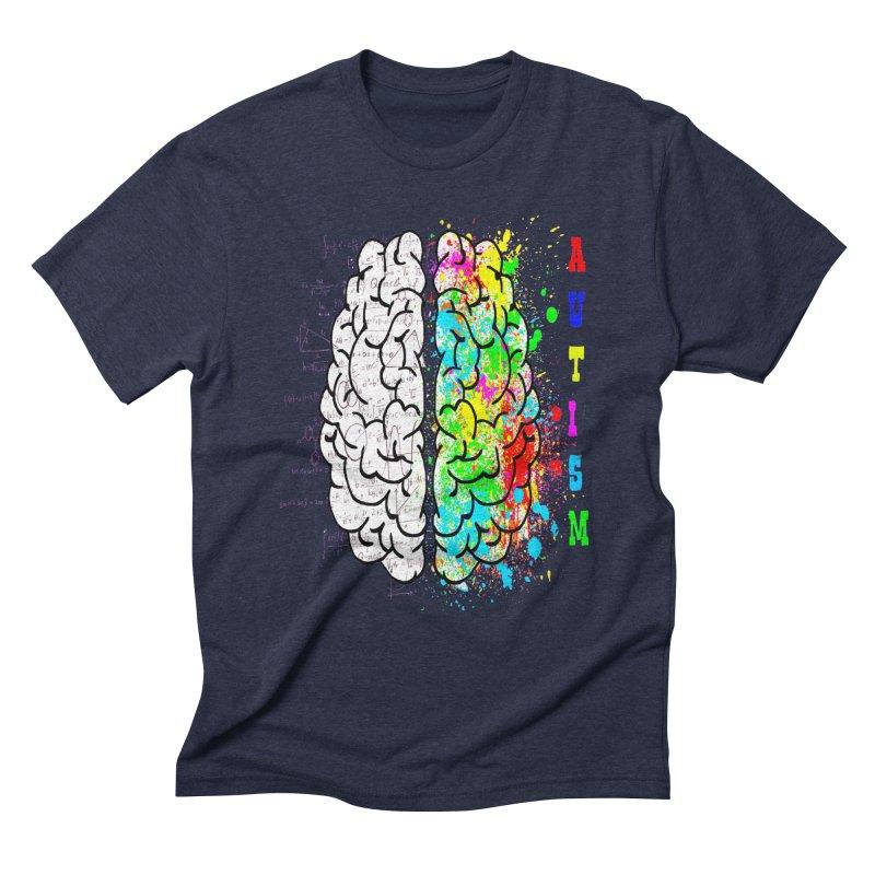 Autism Brain Men's Triblend T-Shirt by Divinitium's Clothing and Apparel