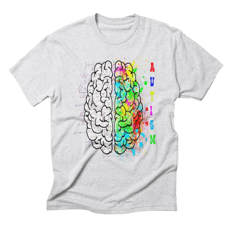 Autism Brain Men's Triblend T-Shirt by Divinitium's Clothing and Apparel