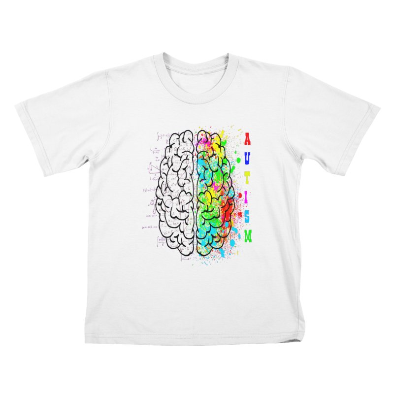 Autism Brain Kids T-Shirt by Divinitium's Clothing and Apparel