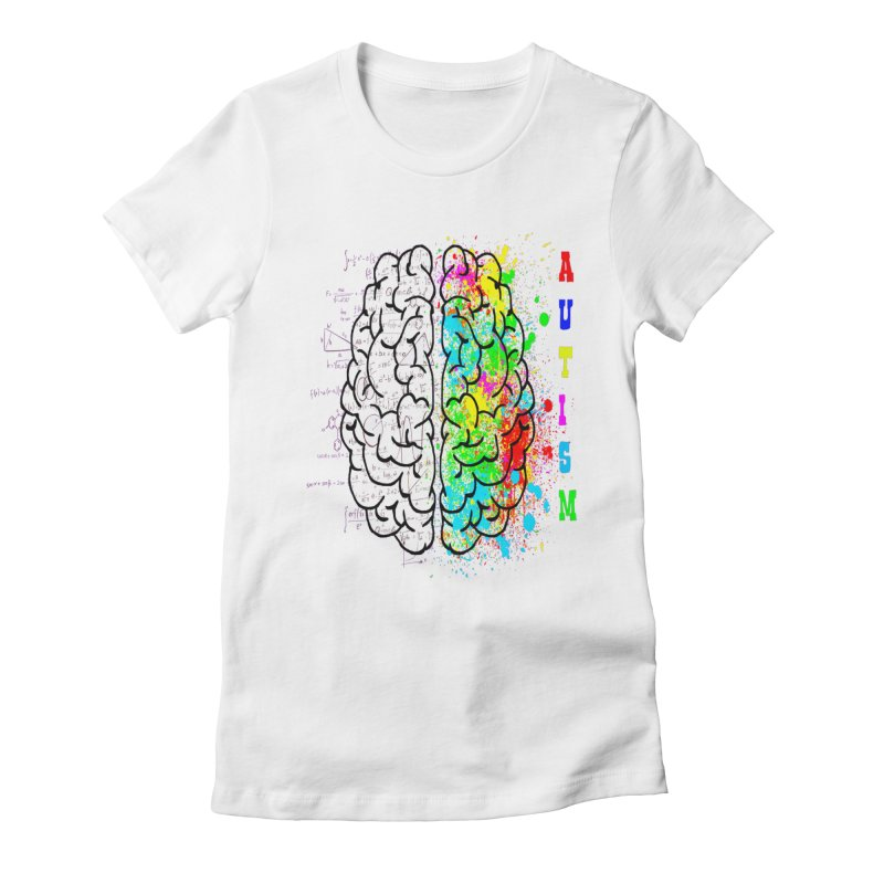 Autism Brain Women's Fitted T-Shirt by Divinitium's Clothing and Apparel
