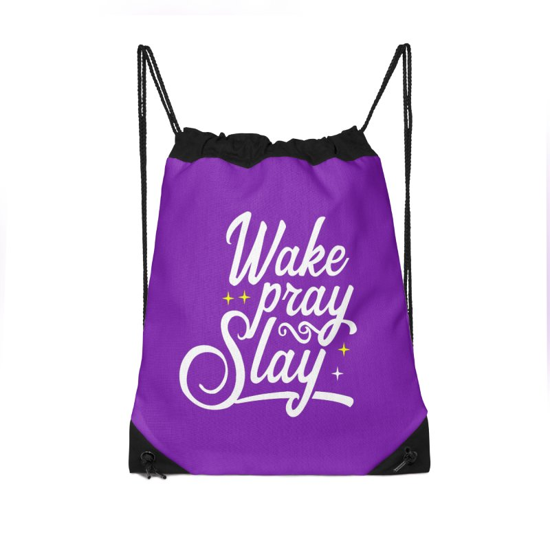 Wake Pray Slay Accessories Bag by Divinitium's Clothing and Apparel
