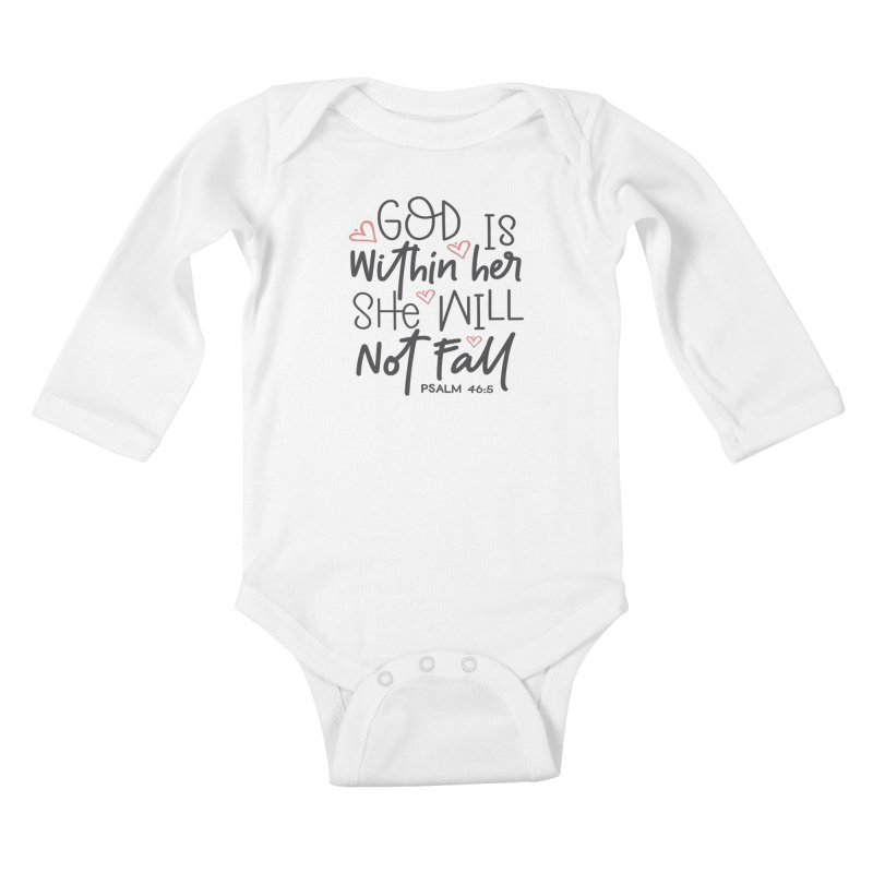 Psalm 46:5 Kids Baby Longsleeve Bodysuit by Divinitium's Clothing and Apparel