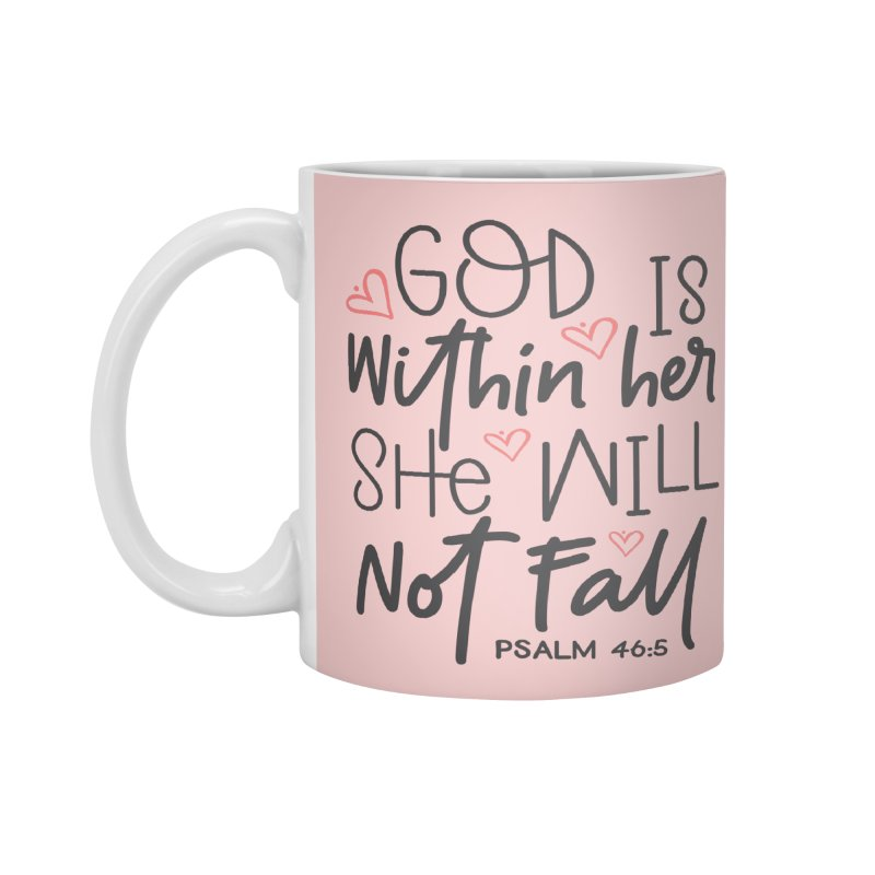 Psalm 46:5 Accessories Standard Mug by Divinitium's Clothing and Apparel