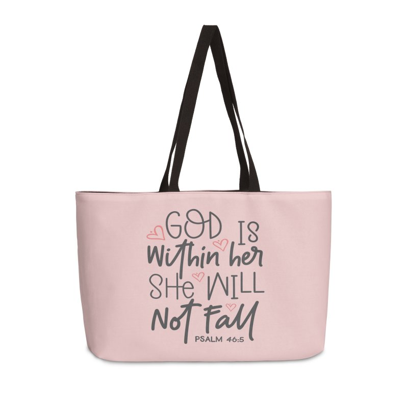 Psalm 46:5 Accessories Weekender Bag Bag by Divinitium's Clothing and Apparel