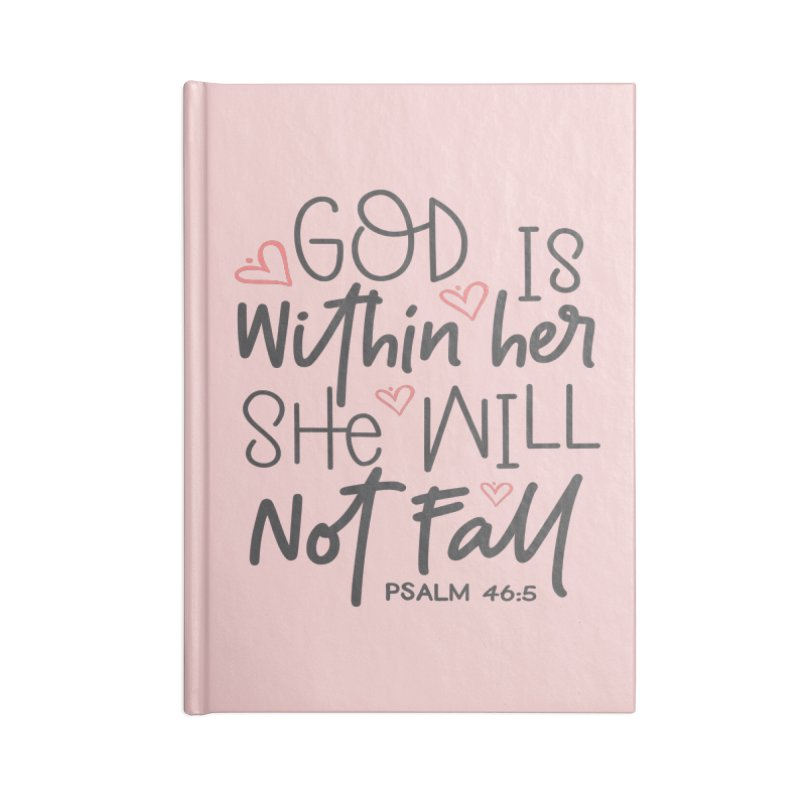 Psalm 46:5 Accessories Lined Journal Notebook by Divinitium's Clothing and Apparel