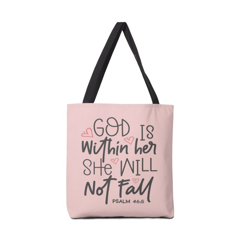 Psalm 46:5 Accessories Tote Bag Bag by Divinitium's Clothing and Apparel