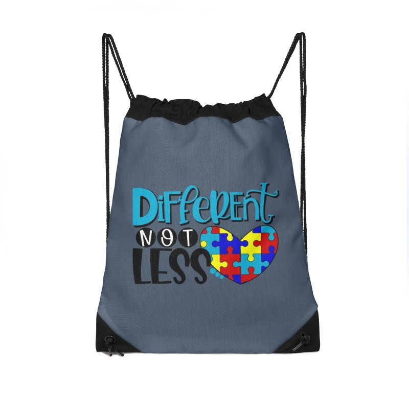 Different Not Less Accessories Drawstring Bag Bag by Divinitium's Clothing and Apparel