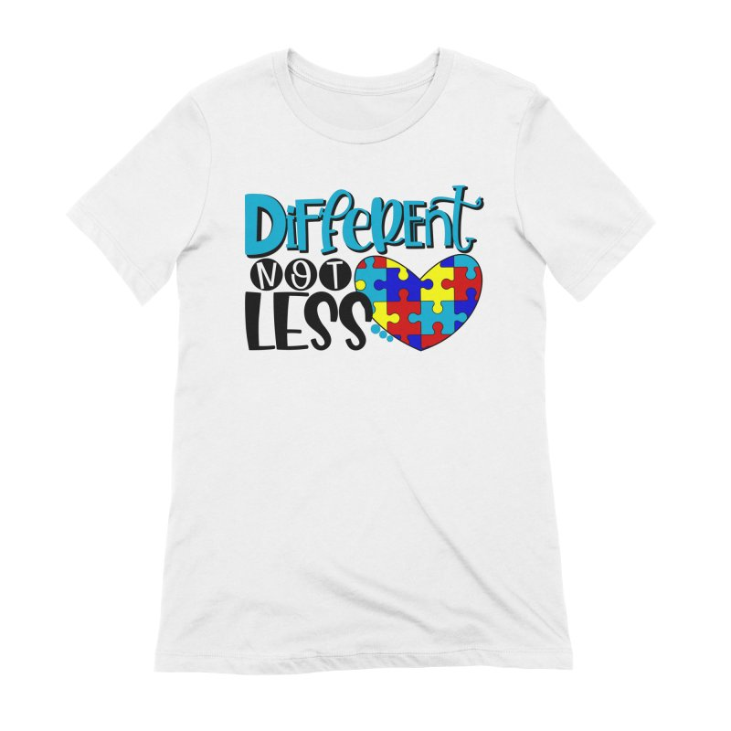 Different Not Less Women's Extra Soft T-Shirt by Divinitium's Clothing and Apparel