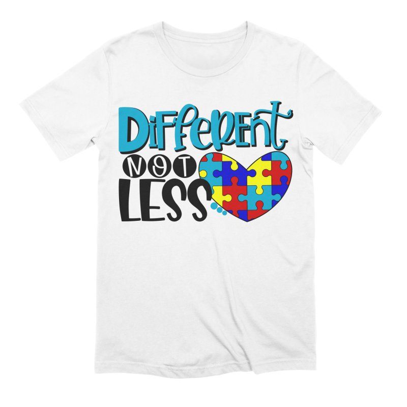 Different Not Less Men's Extra Soft T-Shirt by Divinitium's Clothing and Apparel