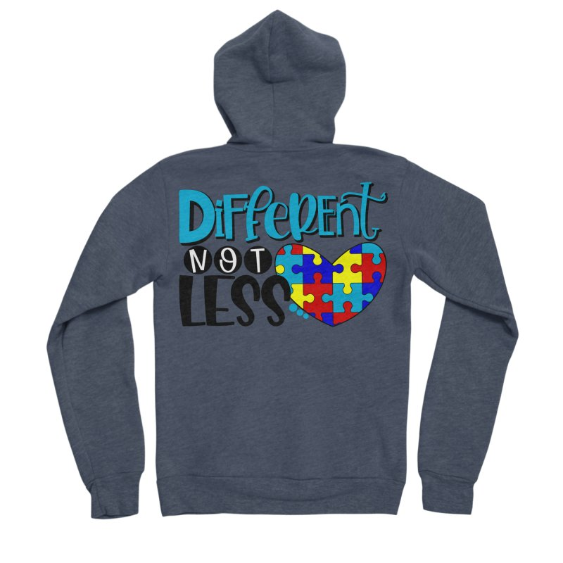 Different Not Less Men's Sponge Fleece Zip-Up Hoody by Divinitium's Clothing and Apparel