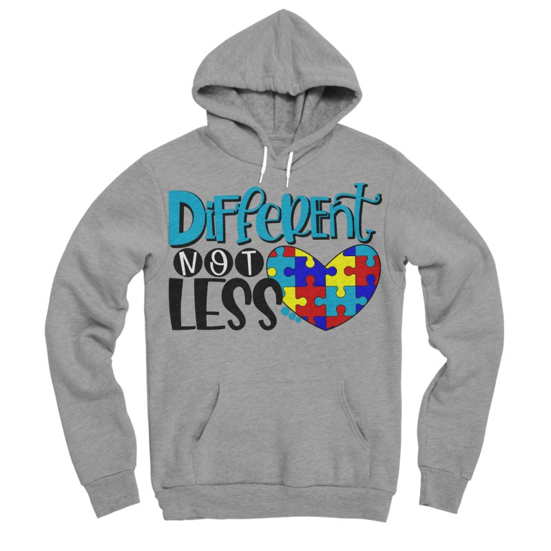Different Not Less Men's Sponge Fleece Pullover Hoody by Divinitium's Clothing and Apparel