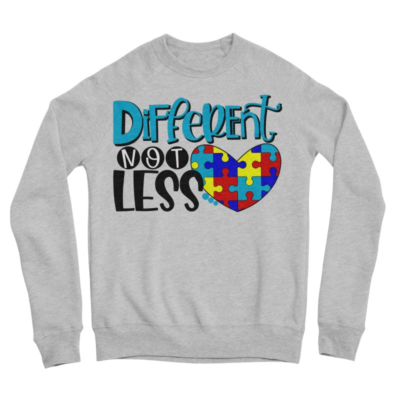 Different Not Less Men's Sponge Fleece Sweatshirt by Divinitium's Clothing and Apparel