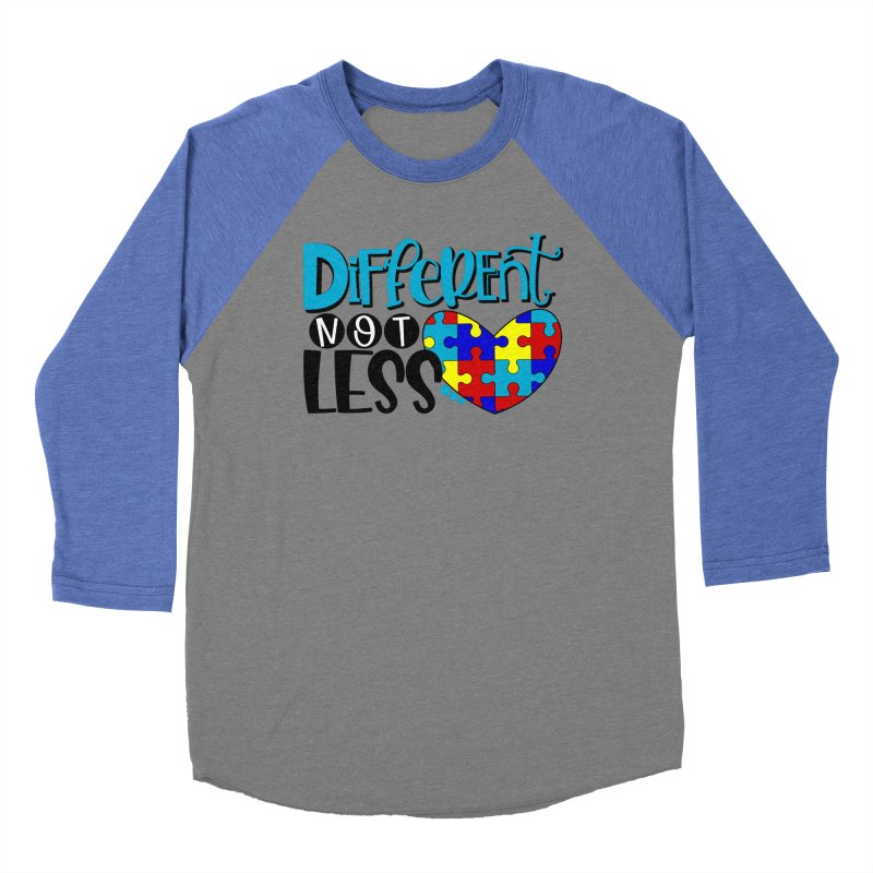 Different Not Less Men's Baseball Triblend Longsleeve T-Shirt by Divinitium's Clothing and Apparel
