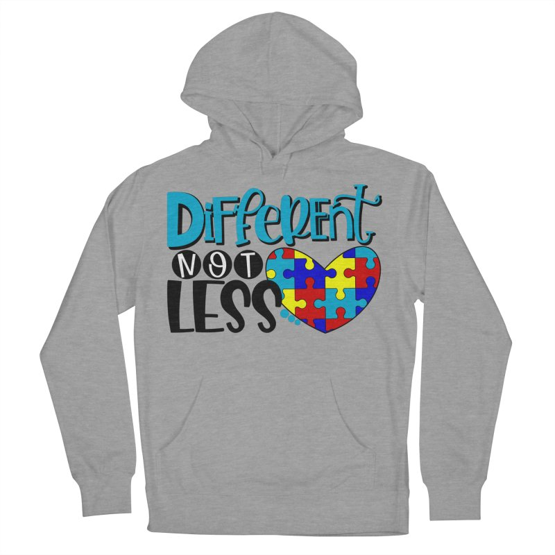 Different Not Less Men's French Terry Pullover Hoody by Divinitium's Clothing and Apparel