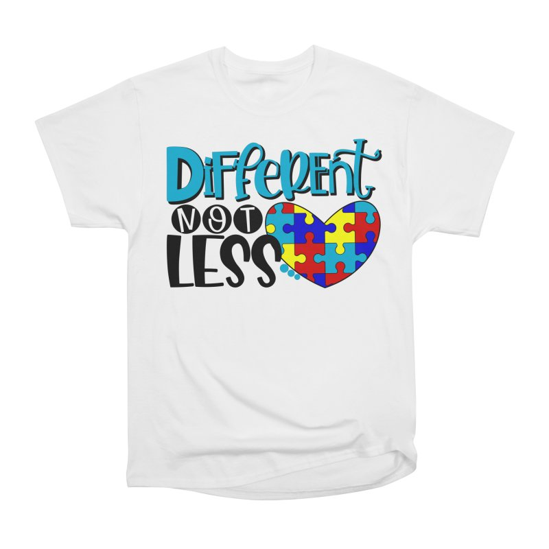 Different Not Less Men's Heavyweight T-Shirt by Divinitium's Clothing and Apparel
