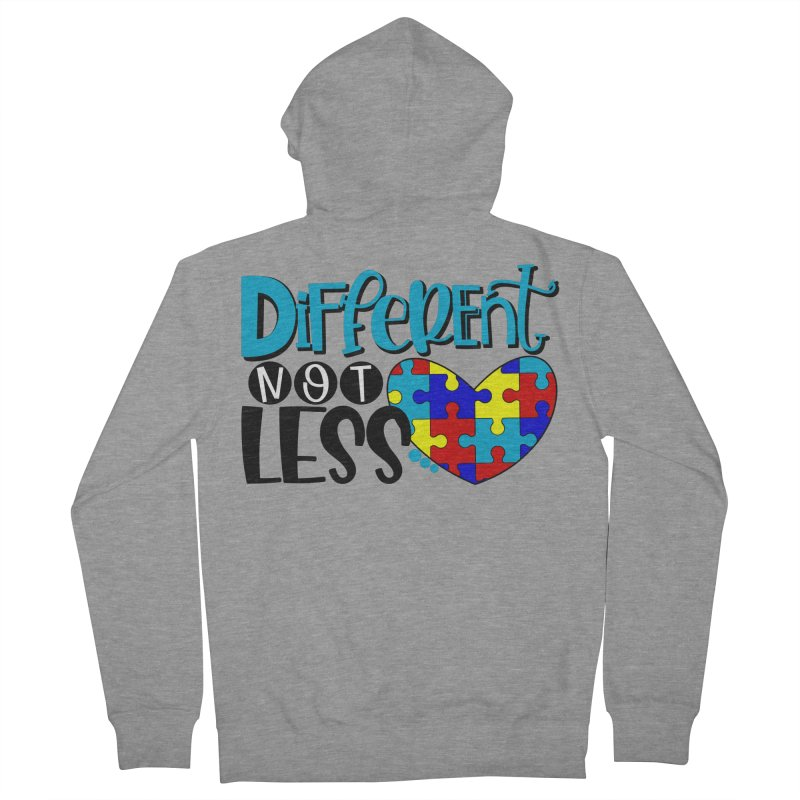 Different Not Less Men's French Terry Zip-Up Hoody by Divinitium's Clothing and Apparel