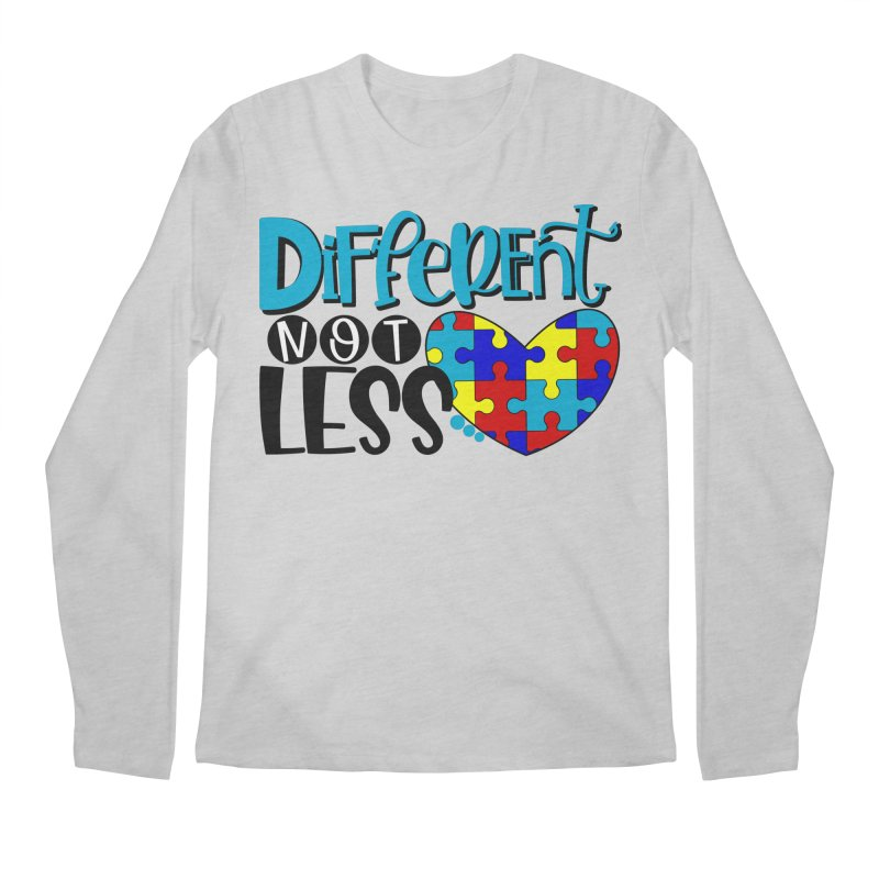 Different Not Less Men's Regular Longsleeve T-Shirt by Divinitium's Clothing and Apparel