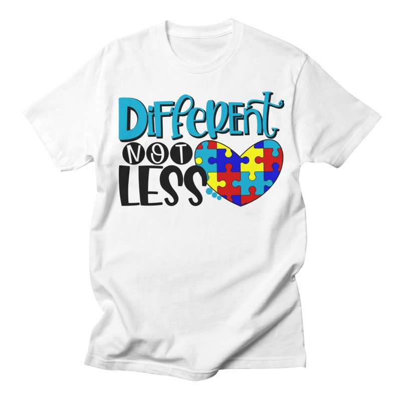 Different Not Less Men's Regular T-Shirt by Divinitium's Clothing and Apparel