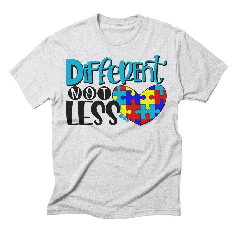 Different Not Less Men's Triblend T-Shirt by Divinitium's Clothing and Apparel