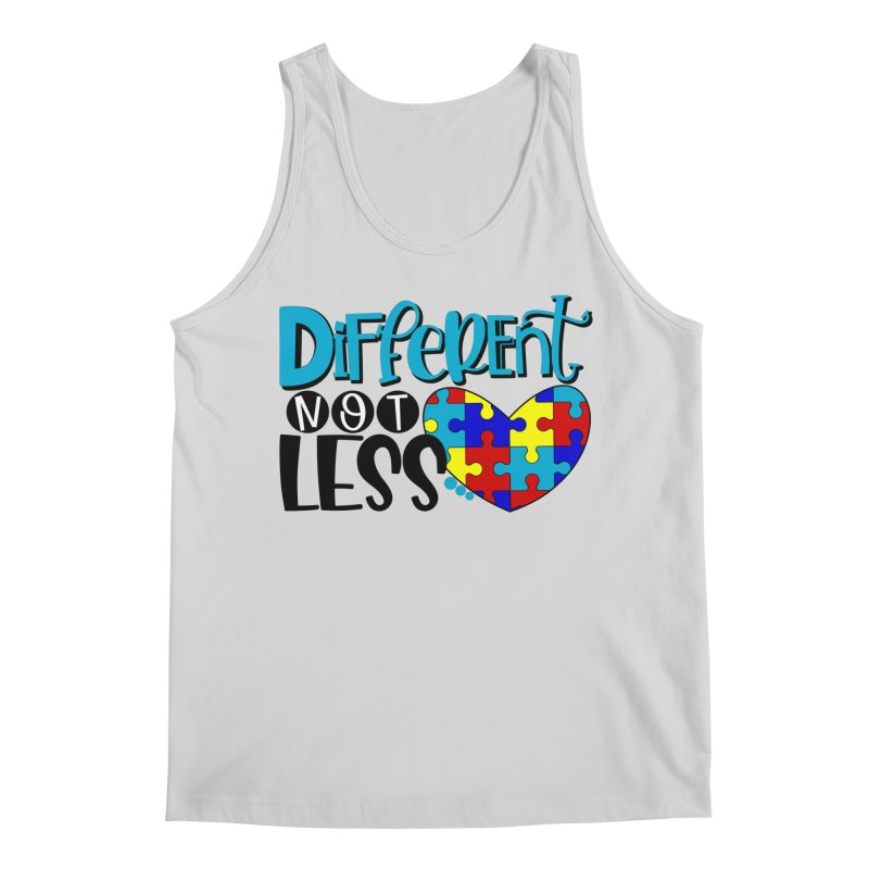 Different Not Less Men's Regular Tank by Divinitium's Clothing and Apparel