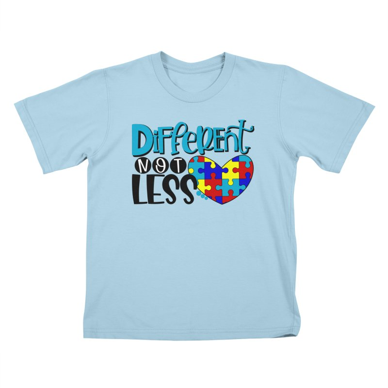 Different Not Less in Kids T-Shirt Powder Blue by Divinitium's Clothing and Apparel