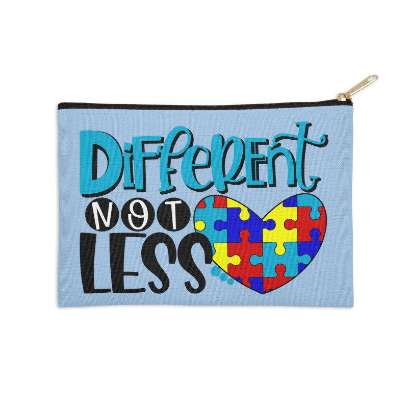 Different Not Less Accessories Zip Pouch by Divinitium's Clothing and Apparel