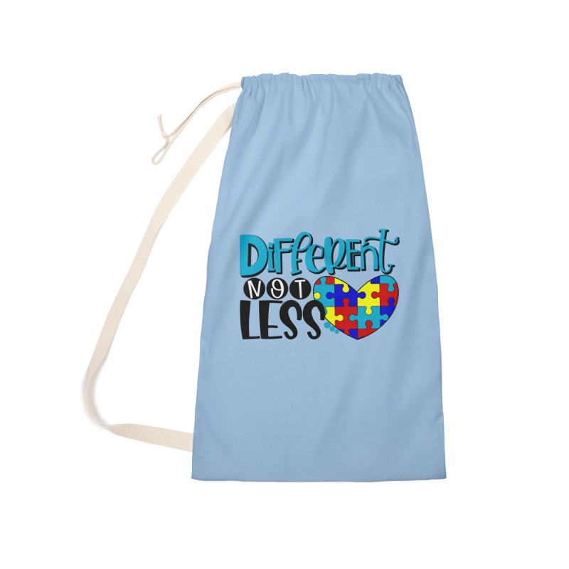 Different Not Less Accessories Laundry Bag Bag by Divinitium's Clothing and Apparel