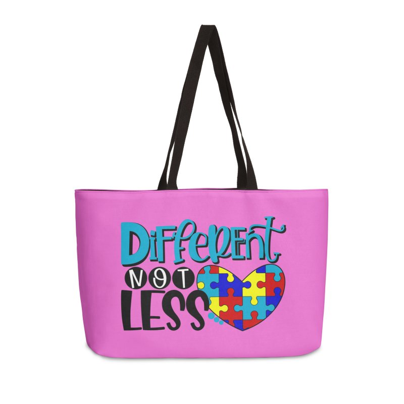 Different Not Less Accessories Weekender Bag Bag by Divinitium's Clothing and Apparel