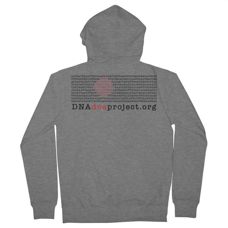 DNA Doe Project Official Men's Zip-Up Hoody by DNA Doe Project Shop