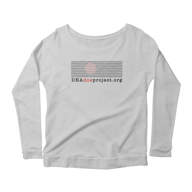DNA Doe Project Official Women's Scoop Neck Longsleeve T-Shirt by DNA Doe Project Shop