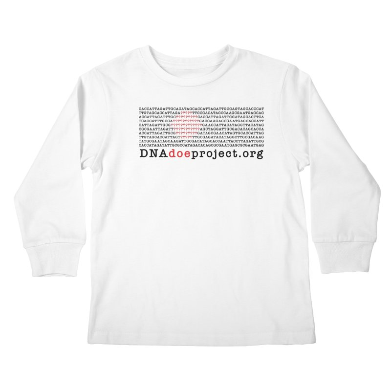 DNA Doe Project Official Kids Longsleeve T-Shirt by DNA Doe Project Shop