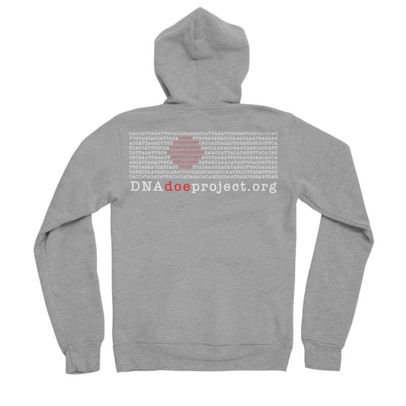 DNA Doe Project Official (Dark variant) in Men's Sponge Fleece Zip-Up Hoody Heather Graphite by DNA Doe Project Shop