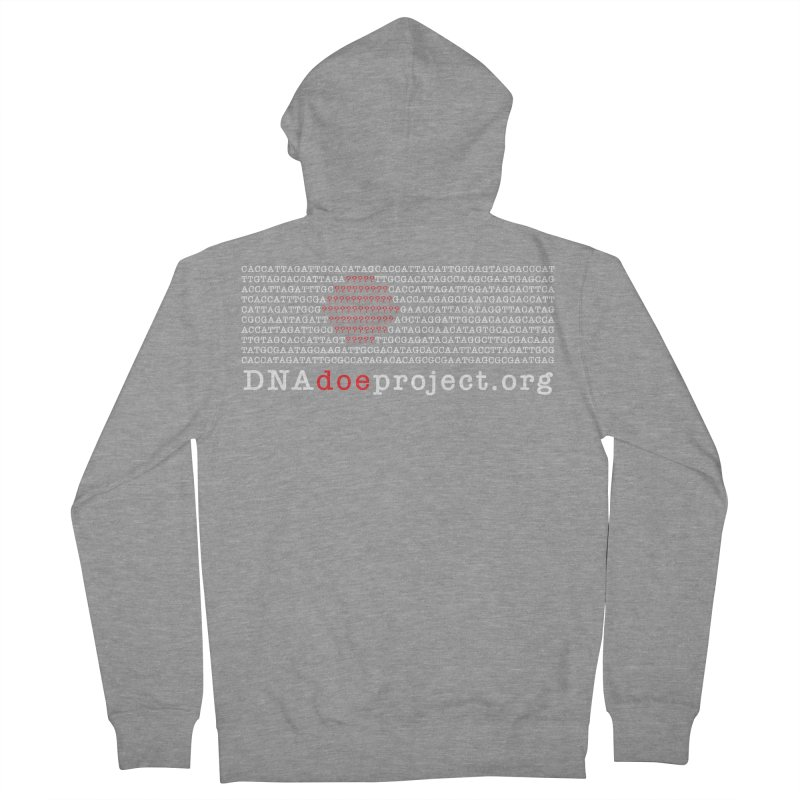 DNA Doe Project Official (Dark variant) Men's French Terry Zip-Up Hoody by DNA Doe Project Shop