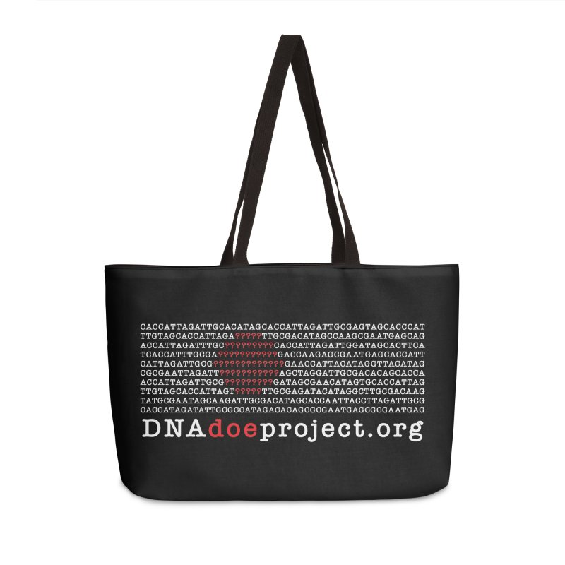 DNA Doe Project Official (Dark variant) Accessories Weekender Bag Bag by DNA Doe Project Shop
