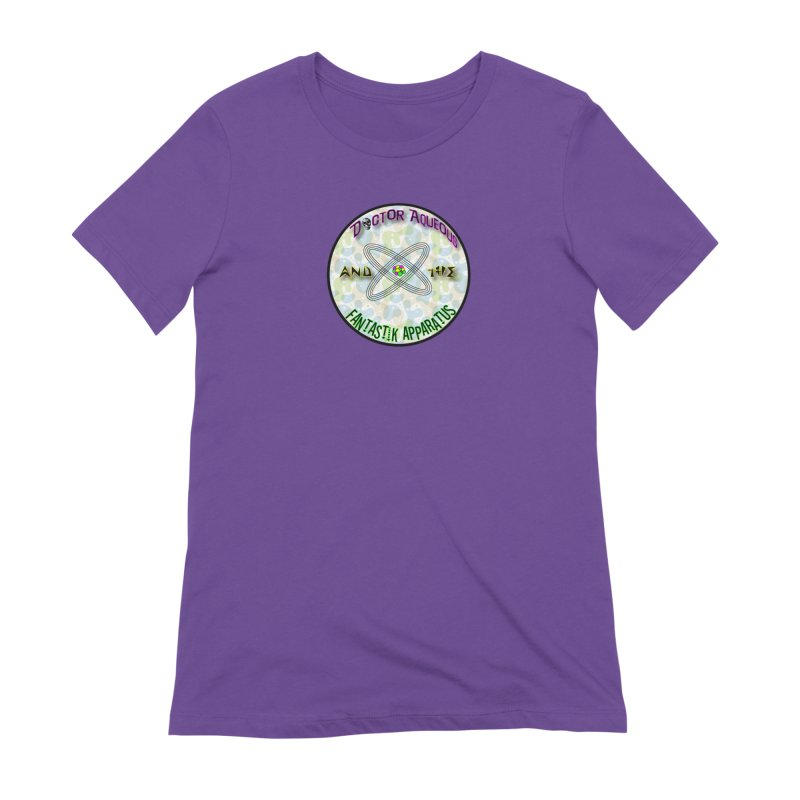 Amoeba Logo in Women's Extra Soft T-Shirt Purple by Dr Aqueous and the Fantastik Apparatus