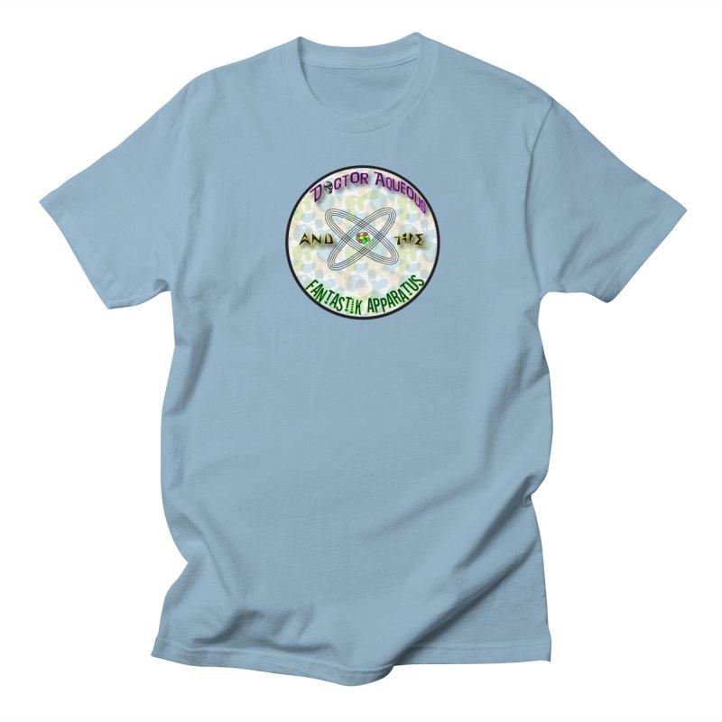 Amoeba Logo in Men's Regular T-Shirt Light Blue by Dr Aqueous and the Fantastik Apparatus