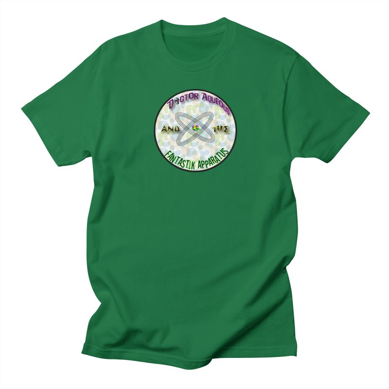 Amoeba Logo in Men's Regular T-Shirt Kelly Green by Dr Aqueous and the Fantastik Apparatus