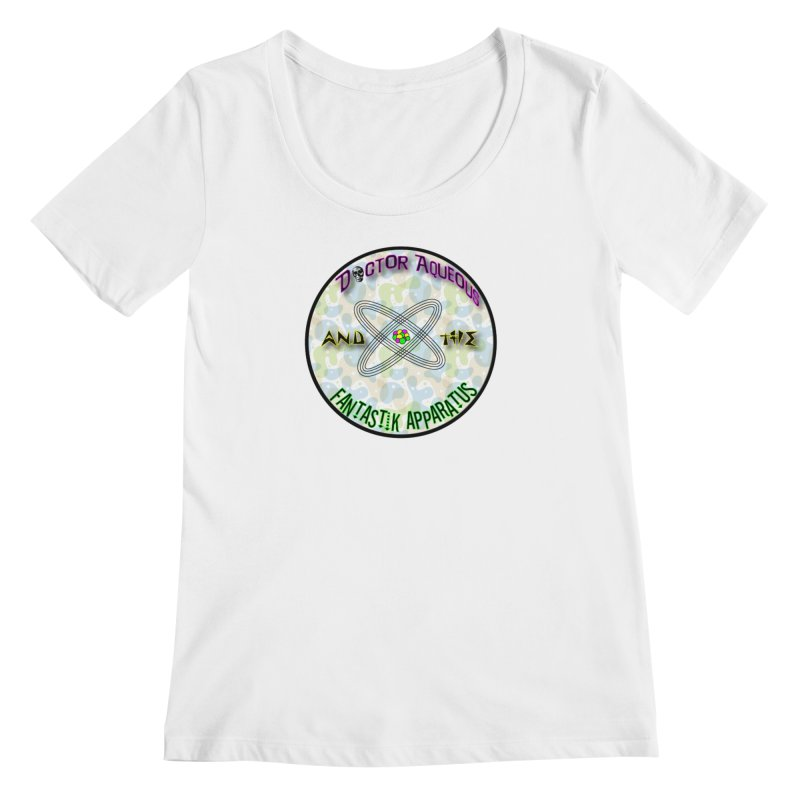 Amoeba Logo in Women's Regular Scoop Neck White by Dr Aqueous and the Fantastik Apparatus