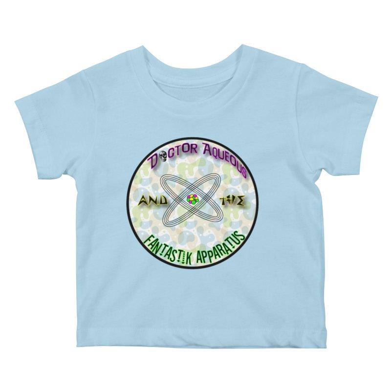 Amoeba Logo Kids Baby T-Shirt by Dr Aqueous and the Fantastik Apparatus