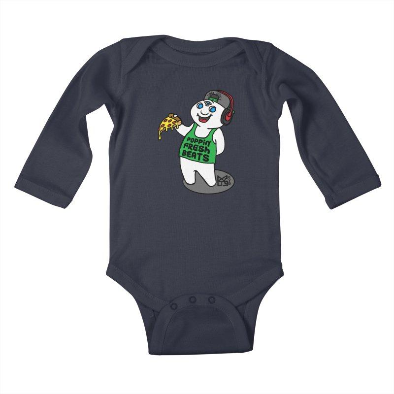 Poppin' Fresh Doey Kids Baby Longsleeve Bodysuit by DoeyJoey's Artist Shop