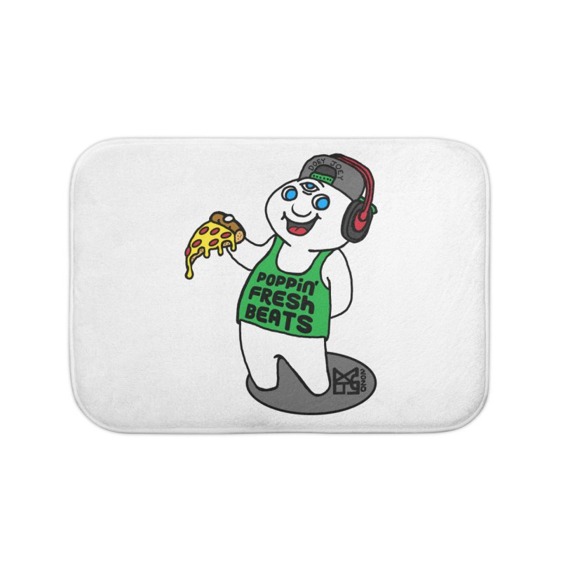 Poppin' Fresh Doey Home Bath Mat by DoeyJoey's Artist Shop