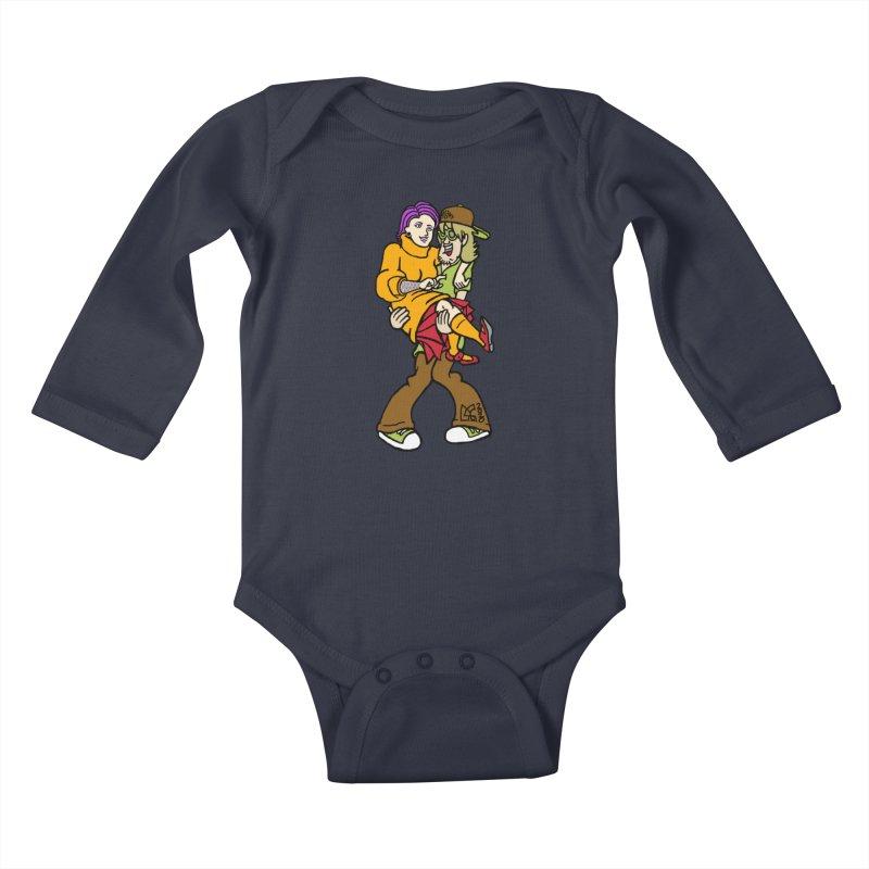 Shaggy 2 Doey Kids Baby Longsleeve Bodysuit by DoeyJoey's Artist Shop