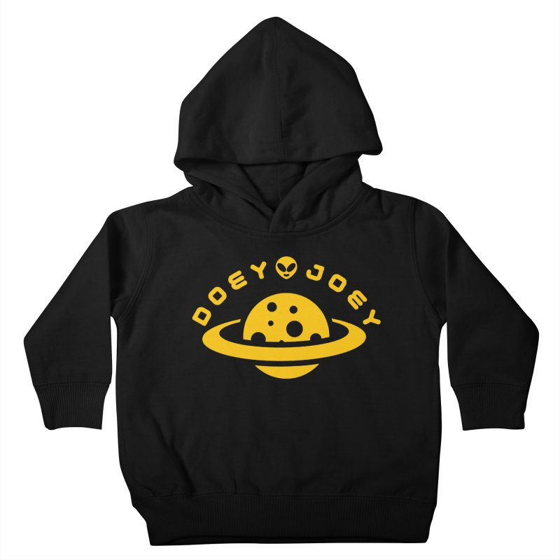 Gold Doey UFO-ey Kids Toddler Pullover Hoody by DoeyJoey's Artist Shop