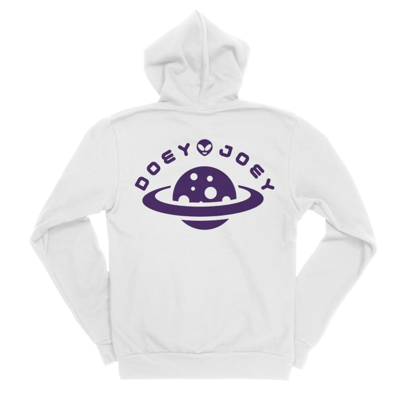 Purple Doey UFO-ey Women's Zip-Up Hoody by DoeyJoey's Artist Shop