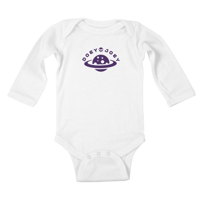 Purple Doey UFO-ey Kids Baby Longsleeve Bodysuit by DoeyJoey's Artist Shop