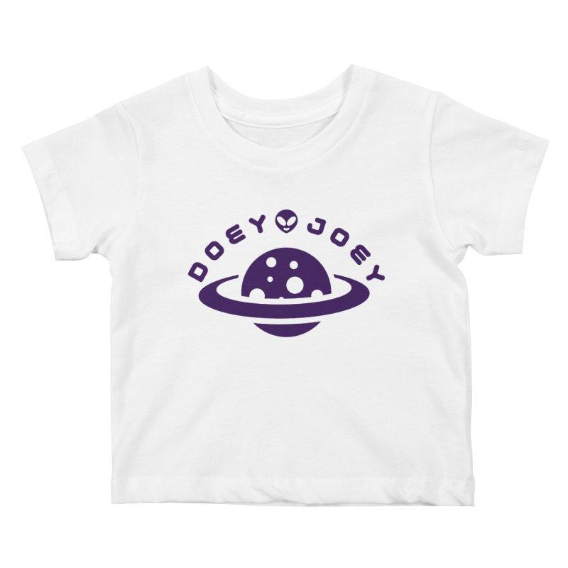 Purple Doey UFO-ey Kids Baby T-Shirt by DoeyJoey's Artist Shop