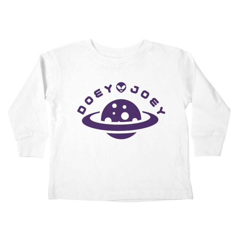 Purple Doey UFO-ey Kids Toddler Longsleeve T-Shirt by DoeyJoey's Artist Shop