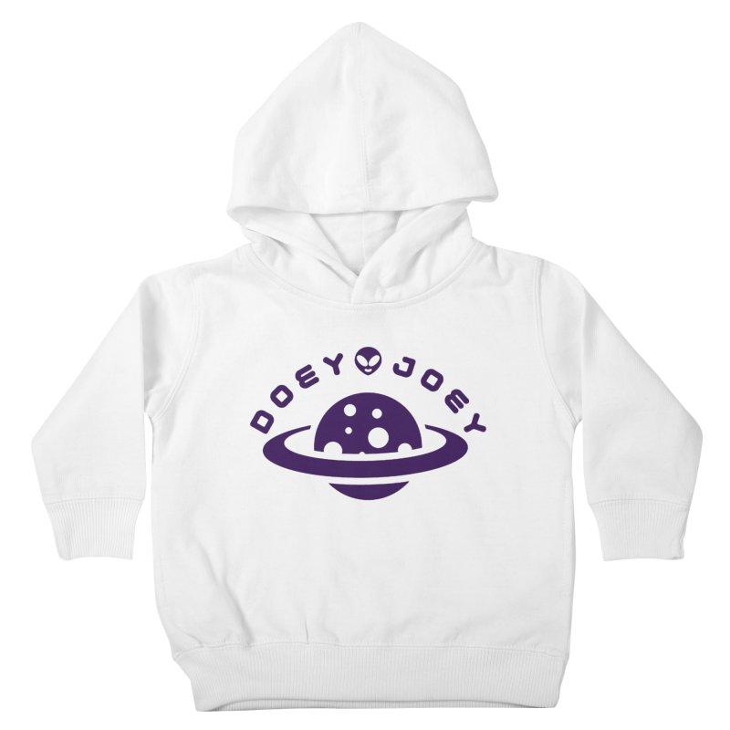 Purple Doey UFO-ey Kids Toddler Pullover Hoody by DoeyJoey's Artist Shop