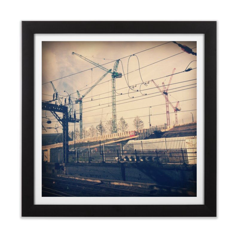 View from the train 2 Home Framed Fine Art Print by Dogfish's Merch