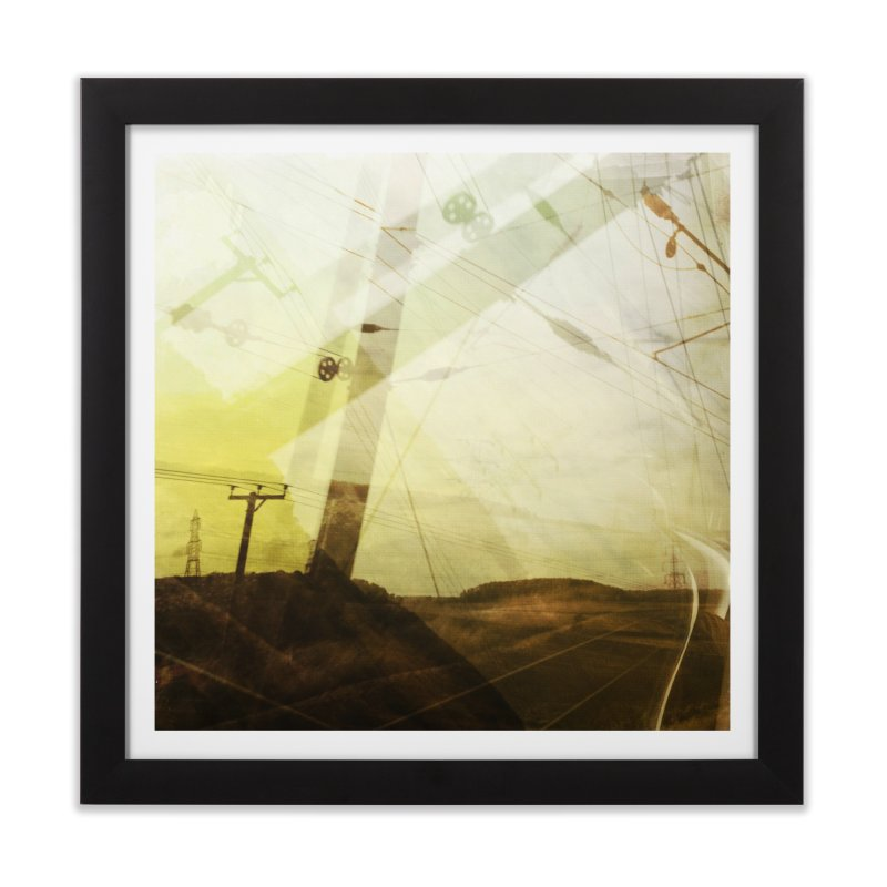 View from the train 3 Home Framed Fine Art Print by Dogfish's Merch